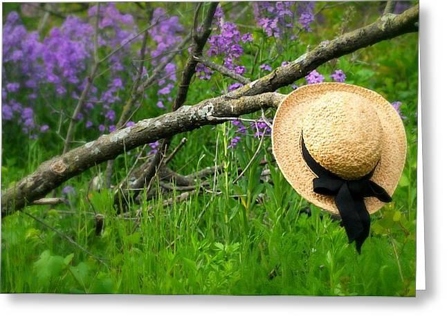 Spring Day Spring Hat Greeting Card