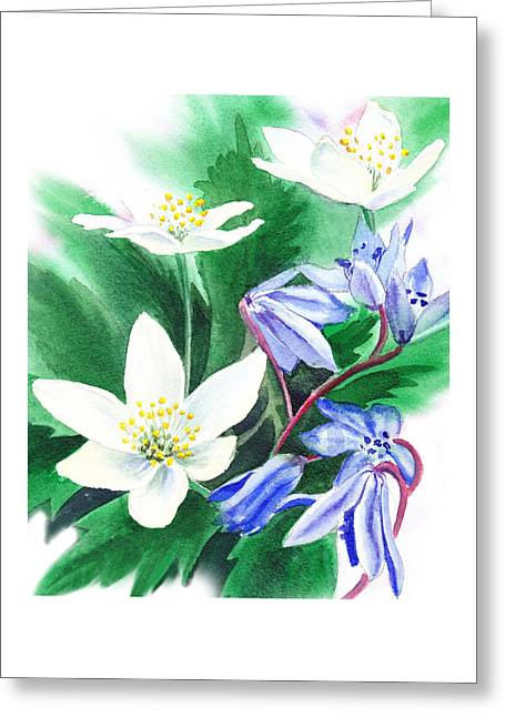 Spring Flowers Greeting Card by Irina Sztukowski