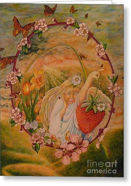 Spring Greeting Card by Jacquelyn Roberts