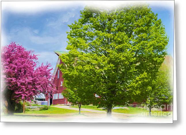 Spring On The Farm Greeting Card