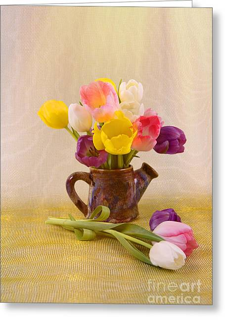 Spring Tulips Greeting Card by Jan Tyler