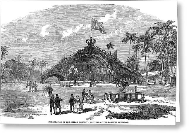 Sri Lanka Railway, 1858 Greeting Card by Granger