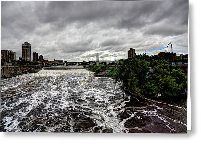 St Anthony Falls Greeting Card by Amanda Stadther