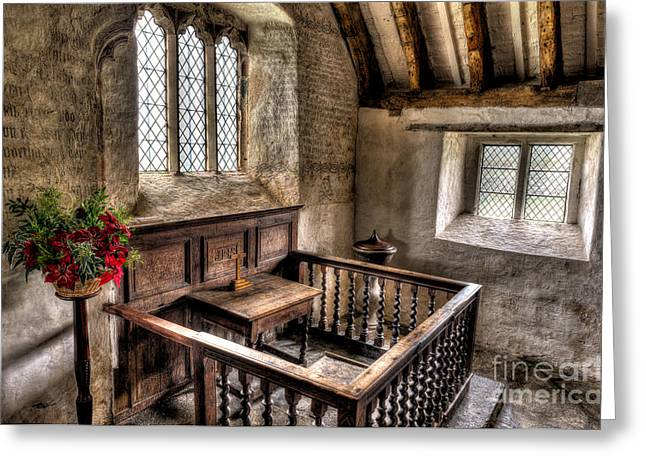 St Celynnin Church Greeting Card by Adrian Evans