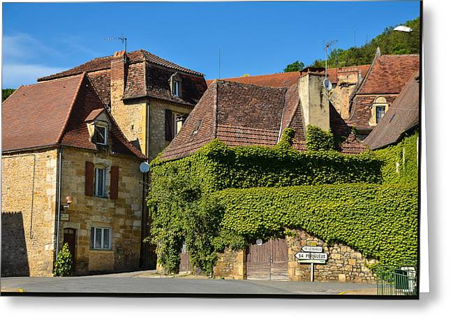 Greeting Card featuring the photograph St Cyprien En Perigord by Dany Lison