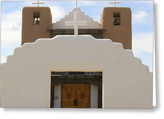 St. Jerome Chapel - Taos Pueblo Greeting Card