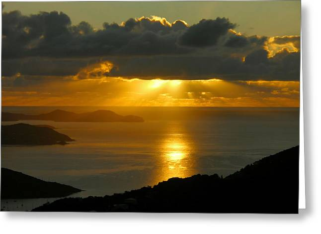St. John Sunrise Greeting Card