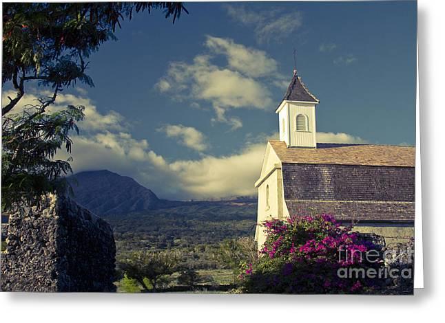St. Joseph Catholic Church Kaupo Maui Hawaii Greeting Card by Sharon Mau