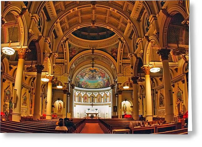 St. Leonard's Church....boston Greeting Card by Joann Vitali