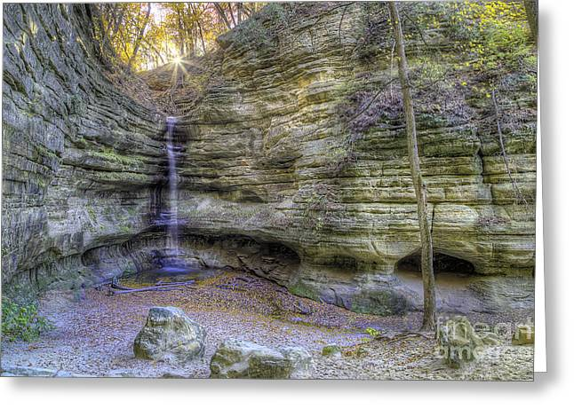 St. Louis Canyon At Starved Rock Greeting Card by Twenty Two North Photography