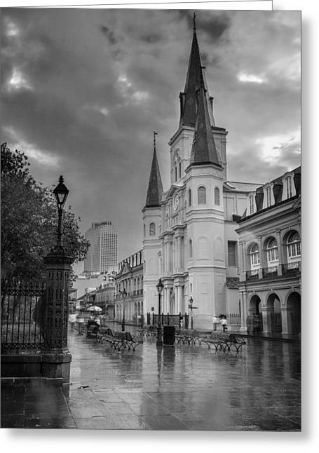St. Louis Cathedral 14bw Greeting Card