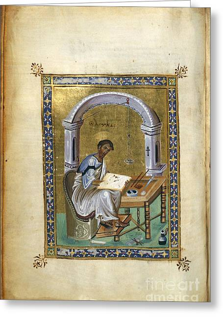 St. Luke Greeting Card by British Library
