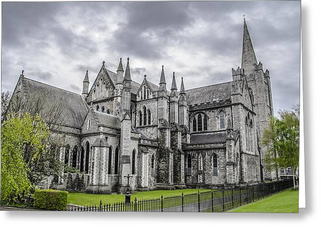 St Patricks Cathedral - Dublin Ireland Greeting Card by Bill Cannon