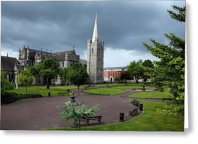 St Patricks Cathedral, Dublin, Ireland Greeting Card by Panoramic Images