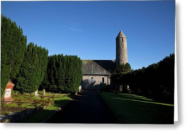 St Patricks Memorial Church At Saul Greeting Card by Panoramic Images