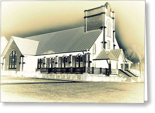St Peter Lutheran Church Chapin Sc Hdr 2 Greeting Card by Lisa Wooten