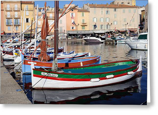 Greeting Card featuring the photograph St. Tropez - France by Haleh Mahbod