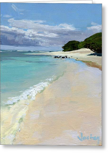 Stable Road Beach Maui Greeting Card