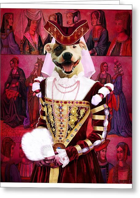 Staffordshire Bull Terrier Art Canvas Print Greeting Card