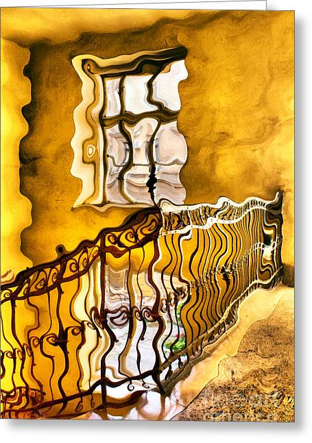 Staircase Interior Greeting Card by Odon Czintos
