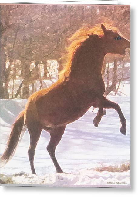 Stallion Greeting Card by Patricia Keller
