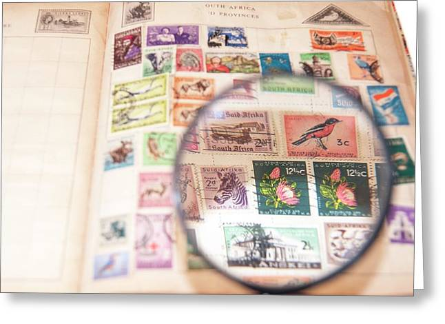 Stamp Collecting Hobby Greeting Card by Photostock-israel