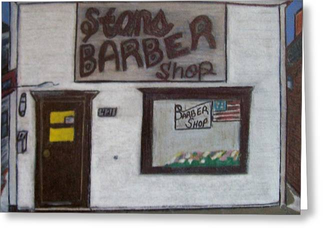 Stans Barber Shop Menominee Greeting Card by Jonathon Hansen
