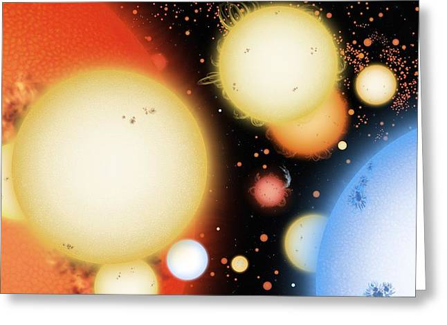 Star Types, Artwork Greeting Card by Science Photo Library
