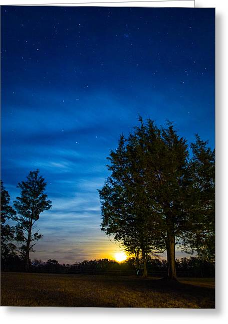 Starry Night Greeting Card by Shelby  Young