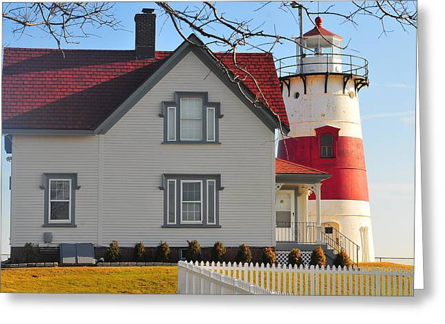 Startford Point Light 1 Greeting Card by Catherine Reusch Daley