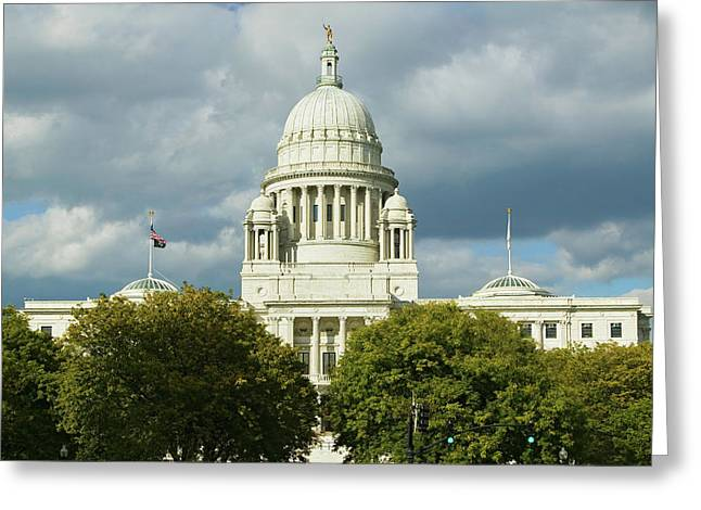 State Capital Building Of Providence Greeting Card