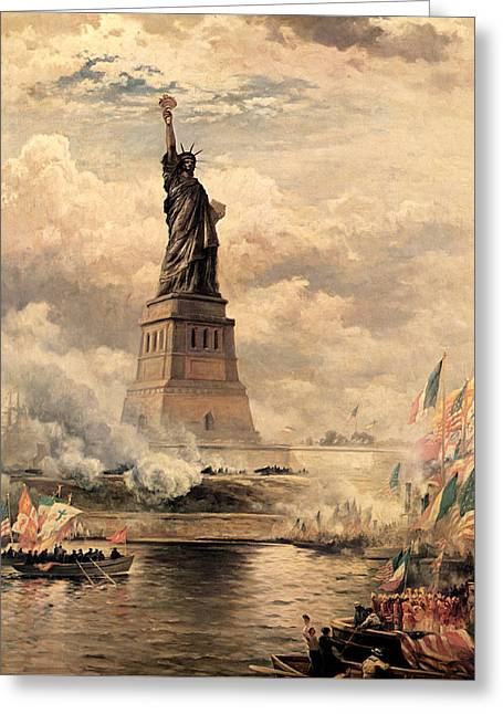 Statue Of Liberty Enlightening The World Greeting Card