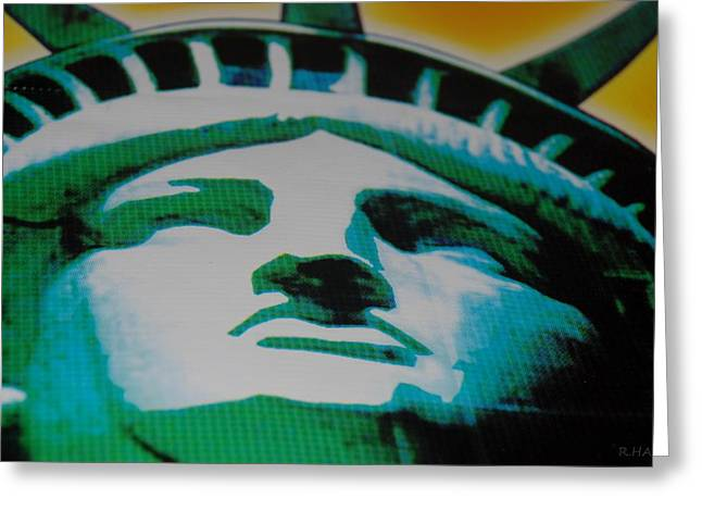 Statue Of Liberty  Greeting Card by Rob Hans