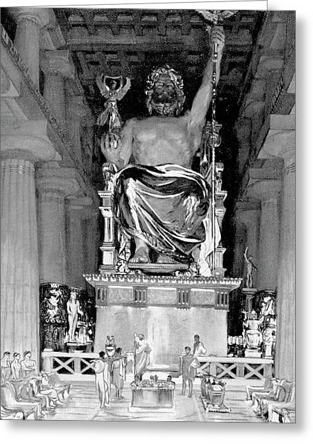 Statue Of Zeus At Olympia Greeting Card by Cci Archives