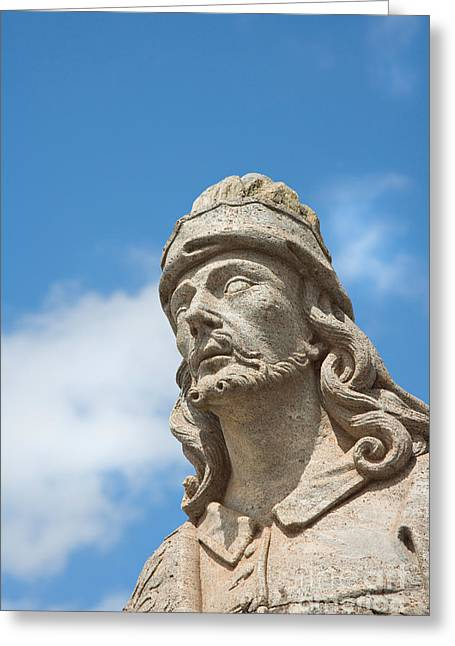 Statues Of Prophets Greeting Card by David Davis