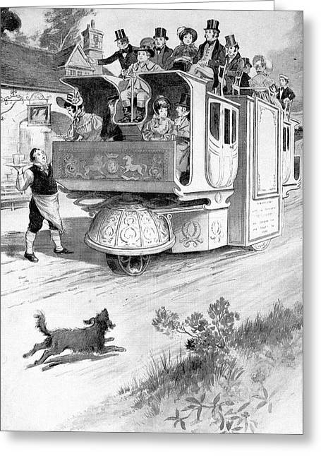 Steam Carriage, 1832 Greeting Card