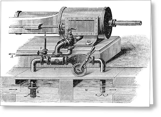 Steam Engine Condenser Greeting Card by Science Photo Library