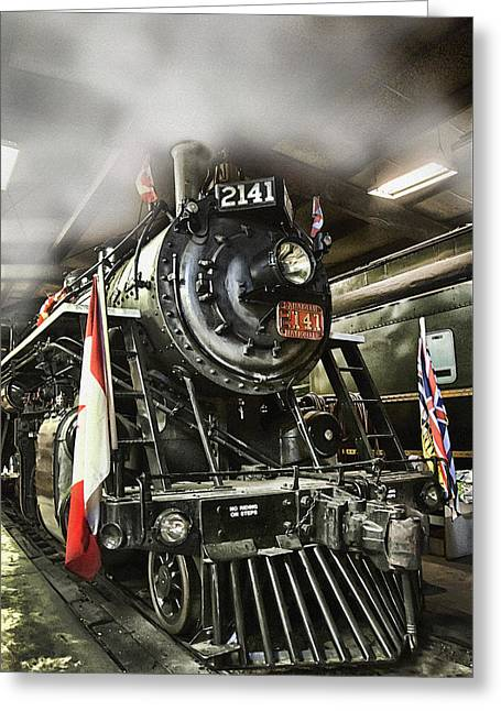 Steam Locomotive 2141 Greeting Card by Theresa Tahara