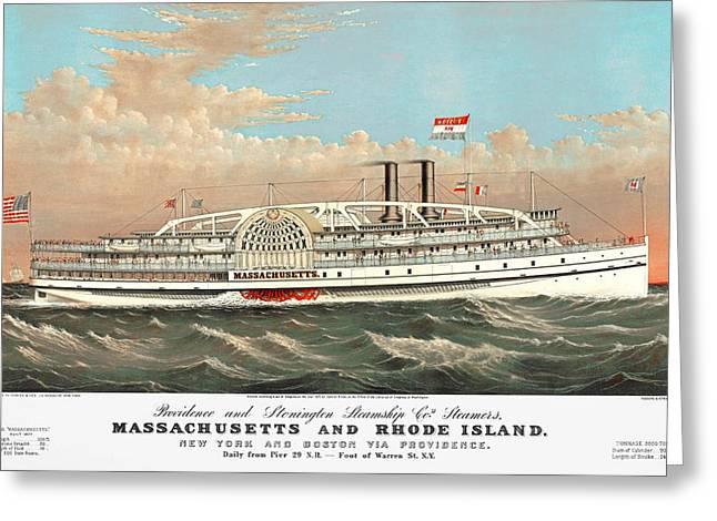 Steamship Massachusetts Greeting Card
