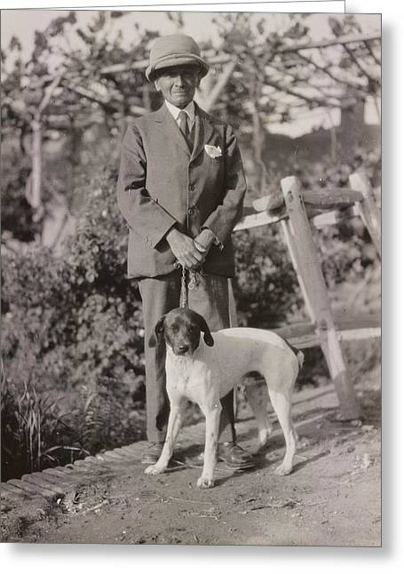 Stein With His Dog Greeting Card by British Library