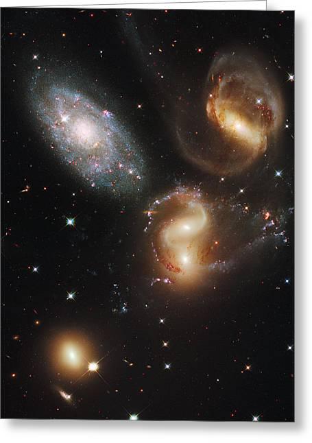 Stephans Quintet Greeting Card