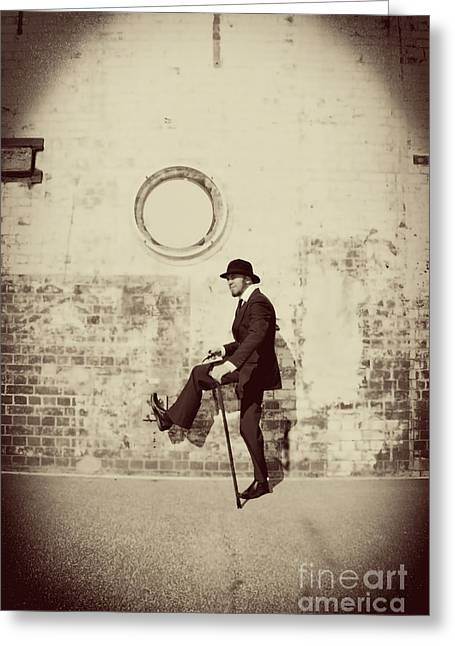 Stepping Into The Past Greeting Card by Jorgo Photography - Wall Art Gallery