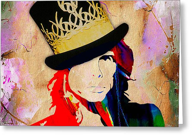Steven Tyler Collection Greeting Card by Marvin Blaine