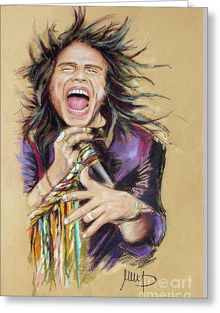 Steven Tyler  Greeting Card by Melanie D