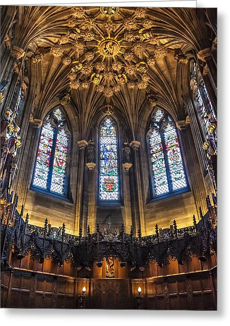 St.giles Cathedral Greeting Card by Svetlana Sewell