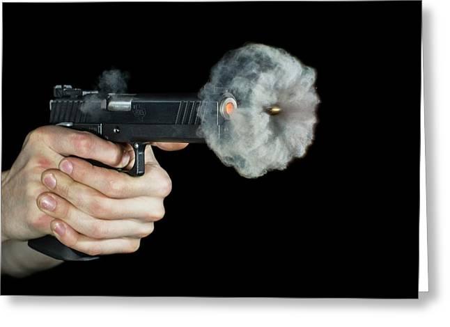 Sti Edge Pistol Shot Greeting Card