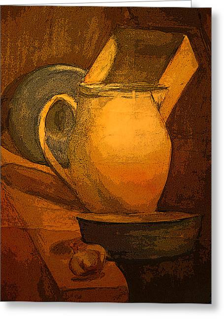 Still Life Greeting Card by Jolanta Erlate