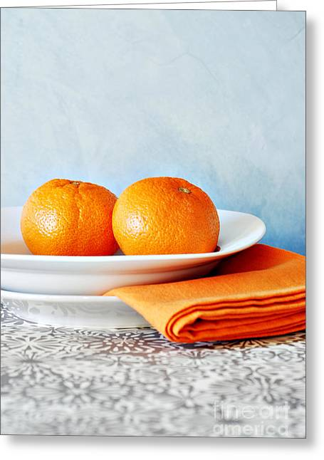 Still Life With Blood Oranges Greeting Card