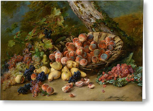 Still Life With Fruits Greeting Card