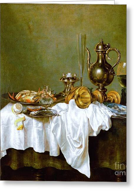 Still-life With Nautilus Cup Greeting Card by Reproduction